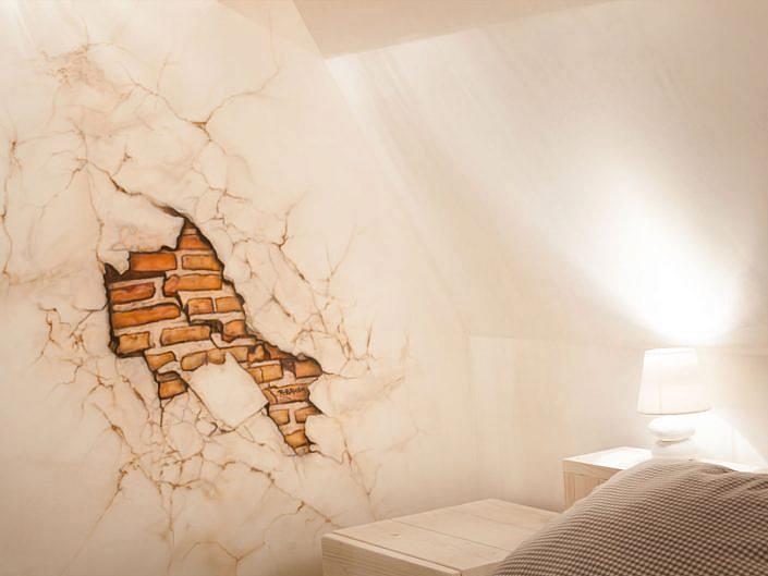 oude toscaanse muur