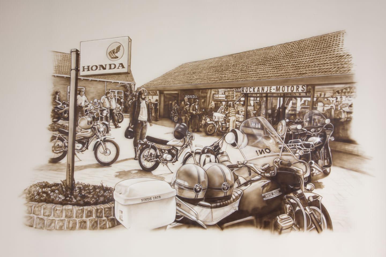 schildering kantoor Motorport Rockanje