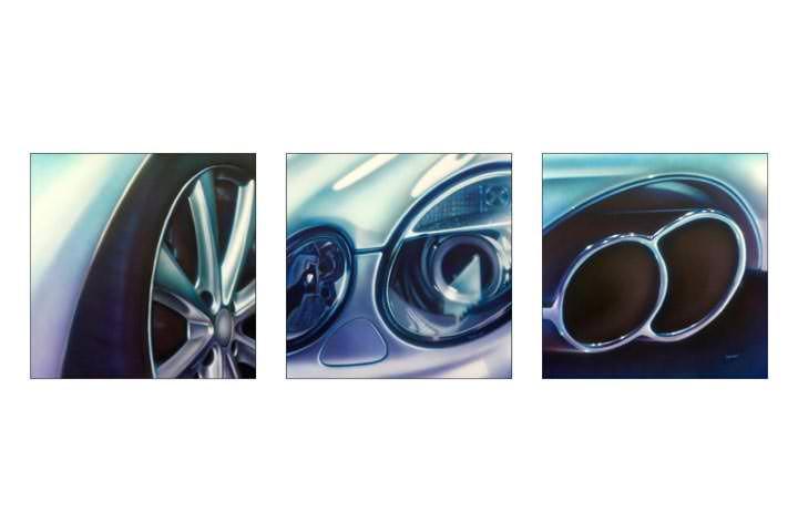 Auto detailschilderijen