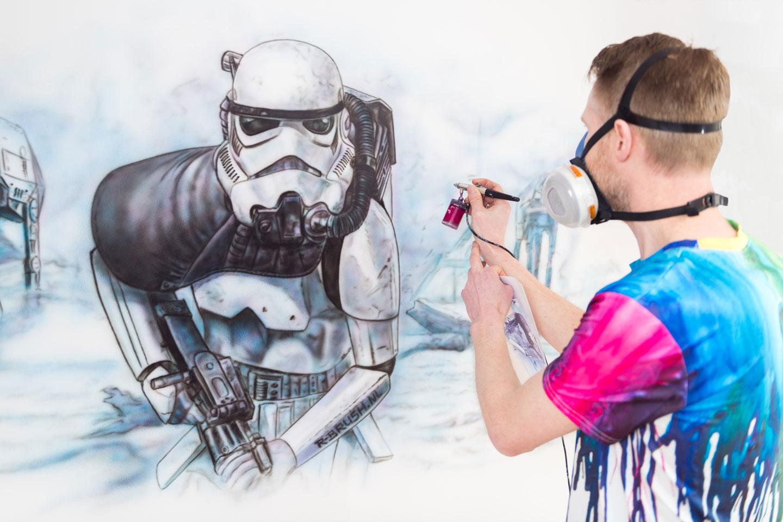 Star Wars muurschildering inkleuren