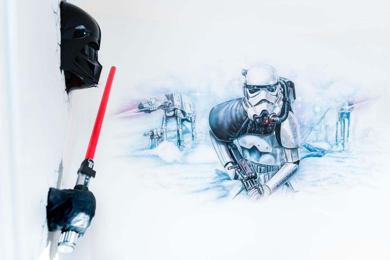 Star Wars muurschildering eindresultaat