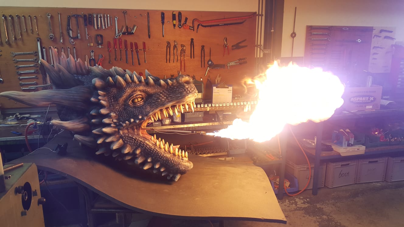 Airbrush 3D print Game of Thrones drakenkop Varend Corso