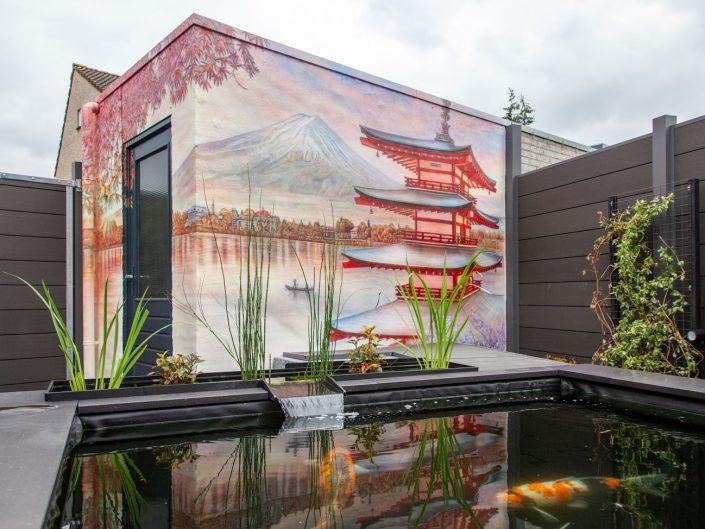 Japanse tuin schildering