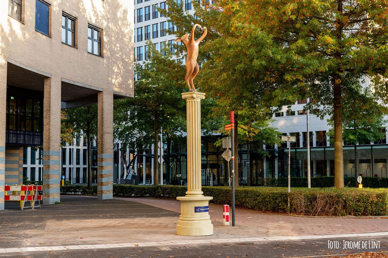 Airbrush standbeeld op het stationsplein in Amersfoort