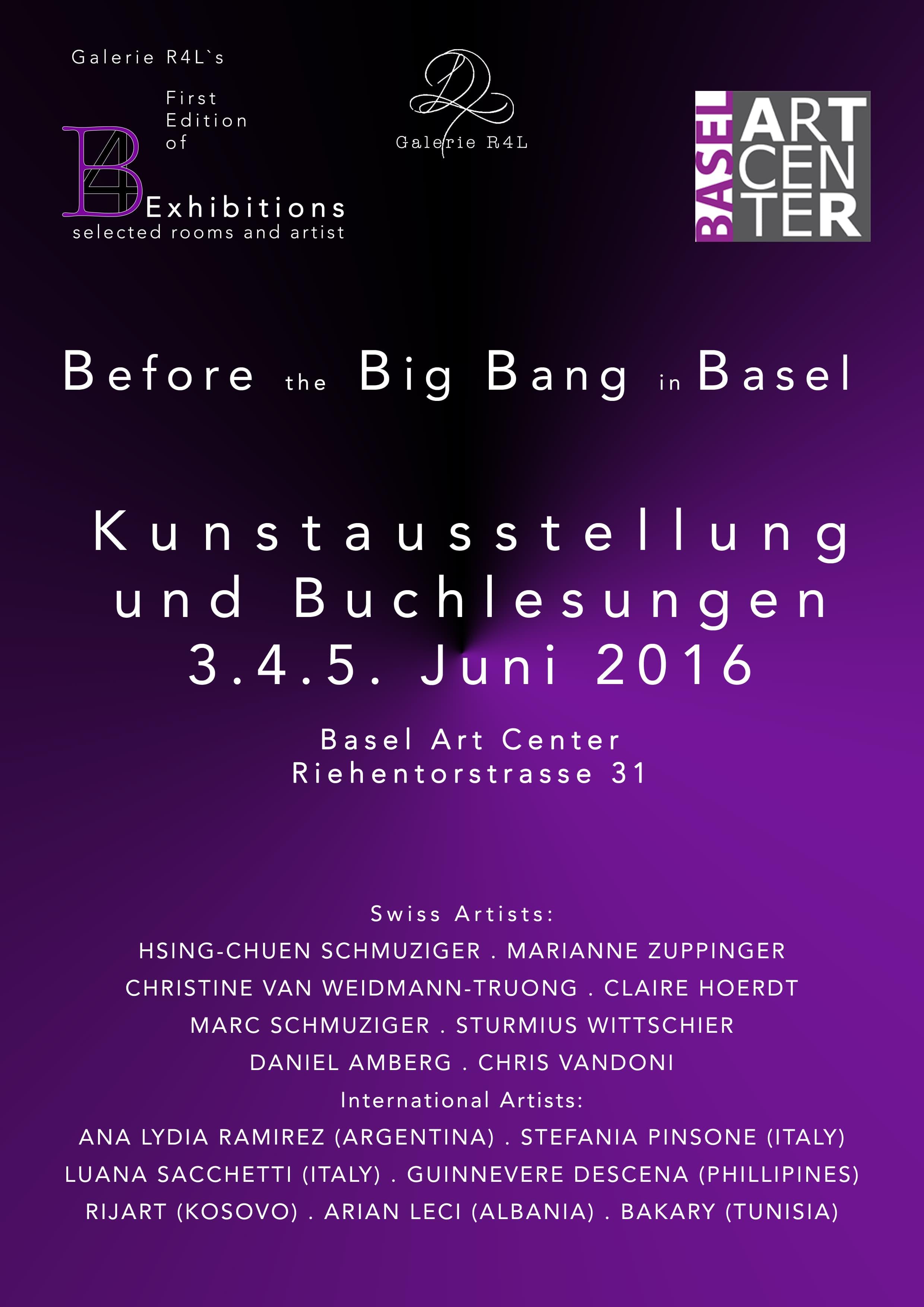 Kunstausstellung Before Big Bang Basel
