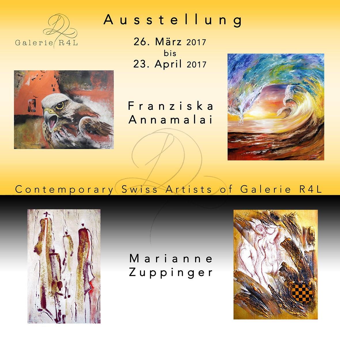 Kunstausstellung Franziska Annamalai & Marianne Zuppinger