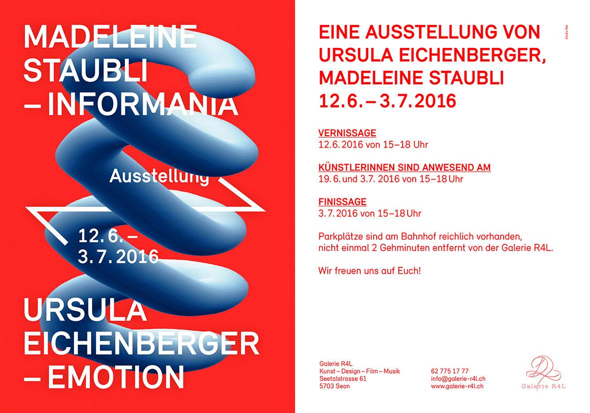 Kunstausstellung Madelein Staubli & Ursula Eichenberger
