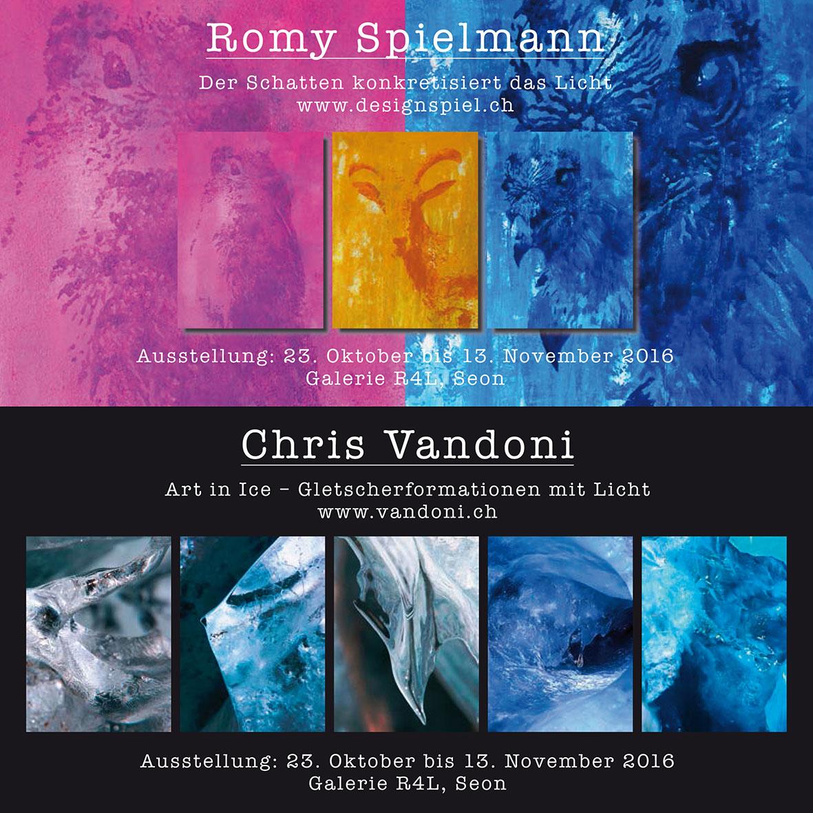 Kunstausstellung Romy Spielmann & Chris Vandoni
