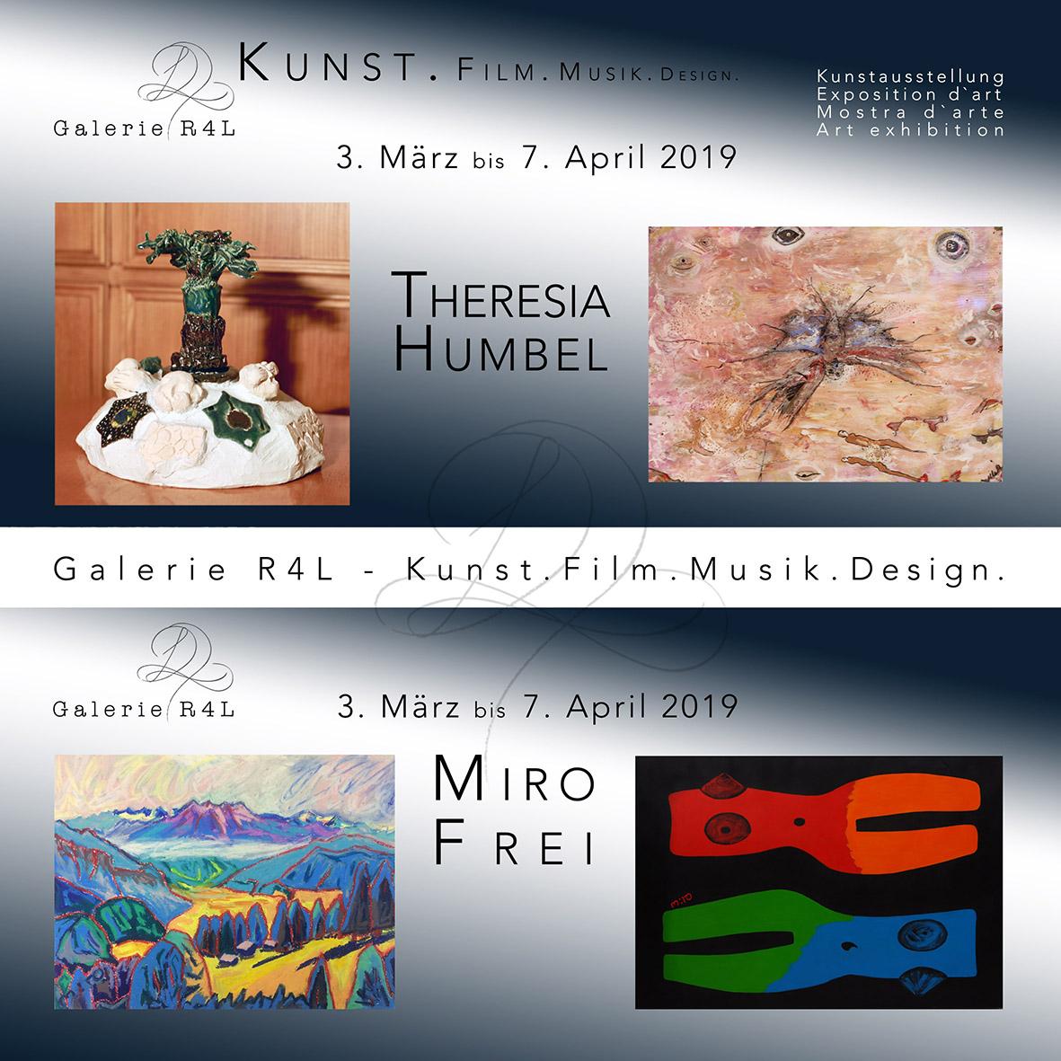 Kunstausstellung Theresia Humbel &Miro Frei