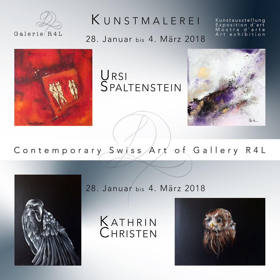 Kunstausstellung Ursi Spaltenstein & Kathrin Christen