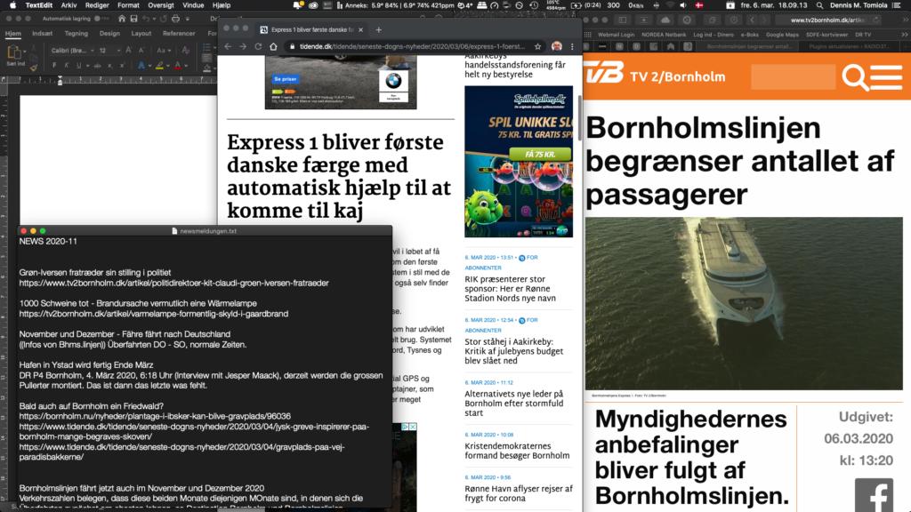 Die Illustration zeigt einen Screenshot zur thematischen Vorbereitung auf die derzeitige Nachrichtenlage