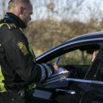 Bild einer Polizeikontrolle in Dänemark