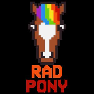 Rad pony logo