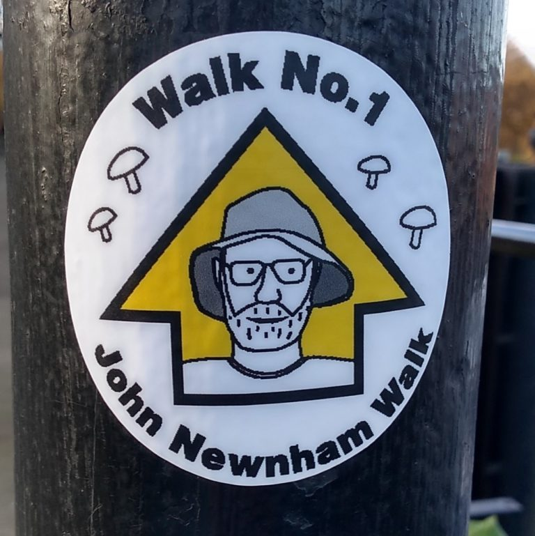 John Newnham walk marker