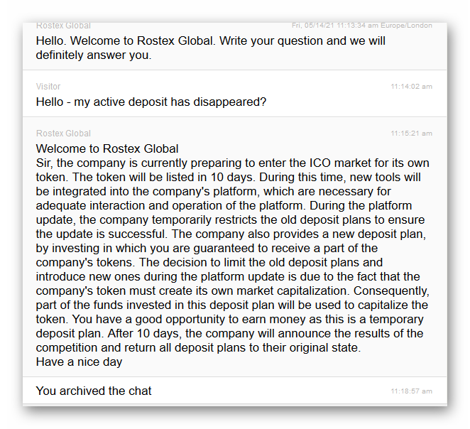 Rostex email