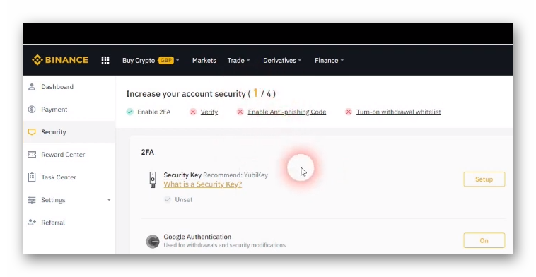 Increase security