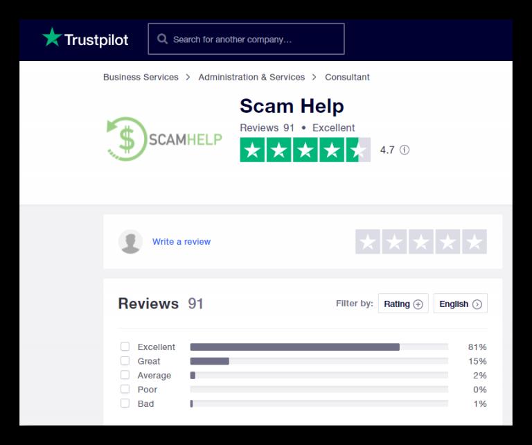 Scam Help Trust Pilot
