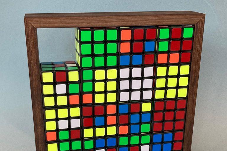 Utraditionel indramning af mosaik