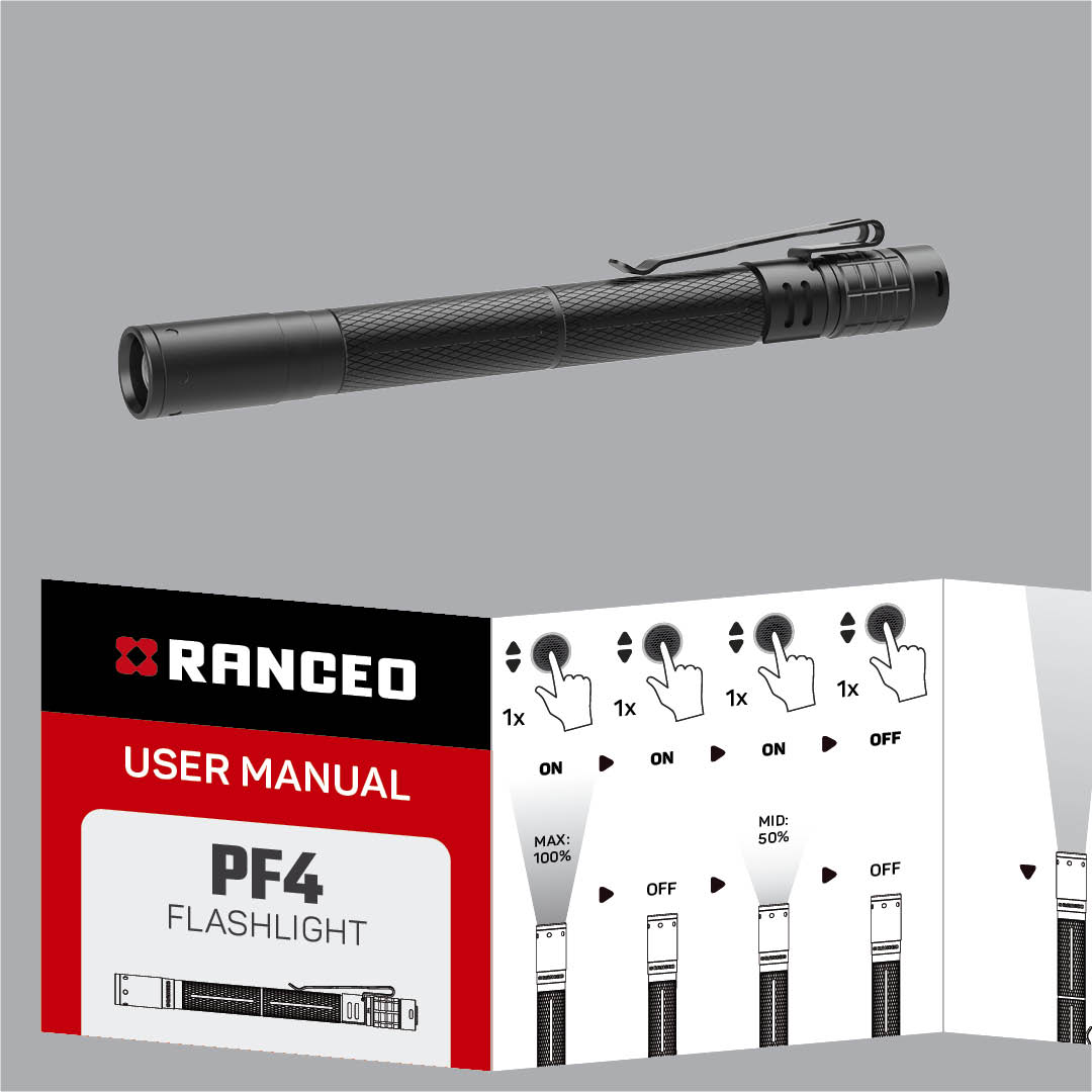 RANCEO PF4 - How to - Manual - Hvordan betjener jeg pencillygten og hvordan virker den - Download hent din manual her som .pdf fil