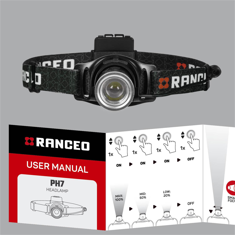 RANCEO PH7 - How to - Manual - Hvordan betjener jeg pandelampen / pandelygten og hvordan virker den - Download hent din manual her som .pdf fil
