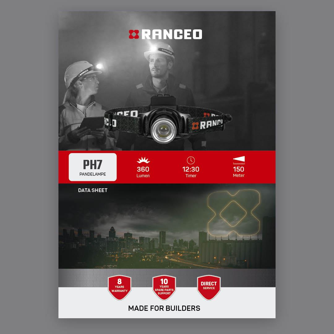 RANCEO PH7 - DATA SHEET - Teknisk information om pandelampen - Download hent dit data sheet her som .pdf fil