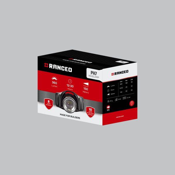 RANCEO PH7 - Pandelampe / Pandelygte emballage blisterbox - Find den i butikken
