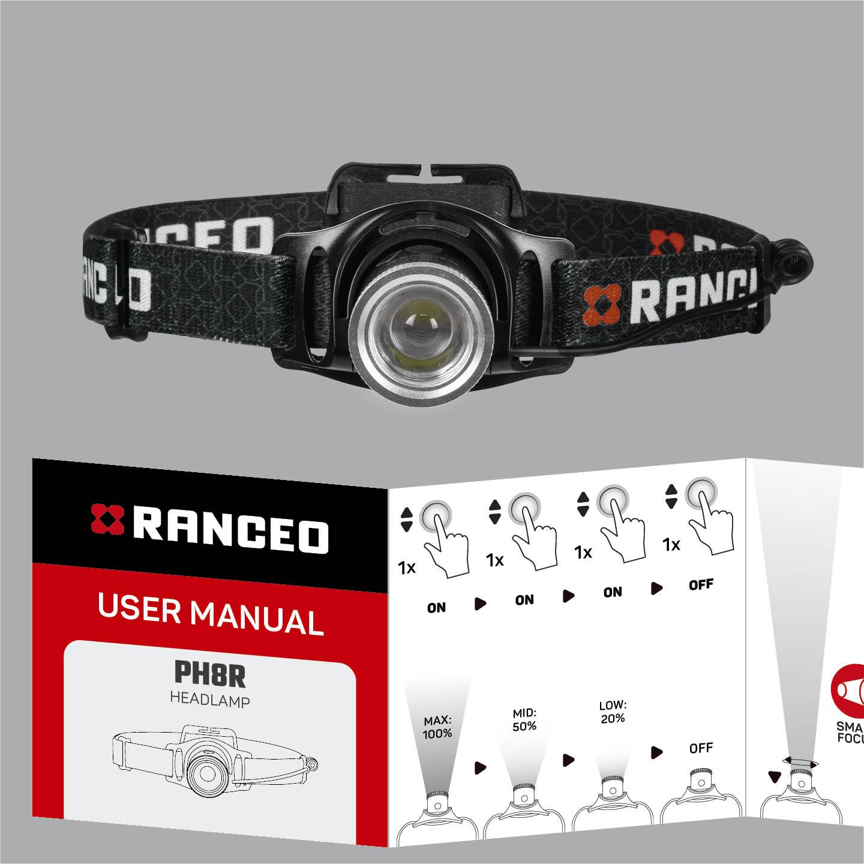 RANCEO PH8R - How to - Manual - Hvordan betjener jeg pandelampen / pandelygten og hvordan virker den - Download hent din manual her som .pdf fil