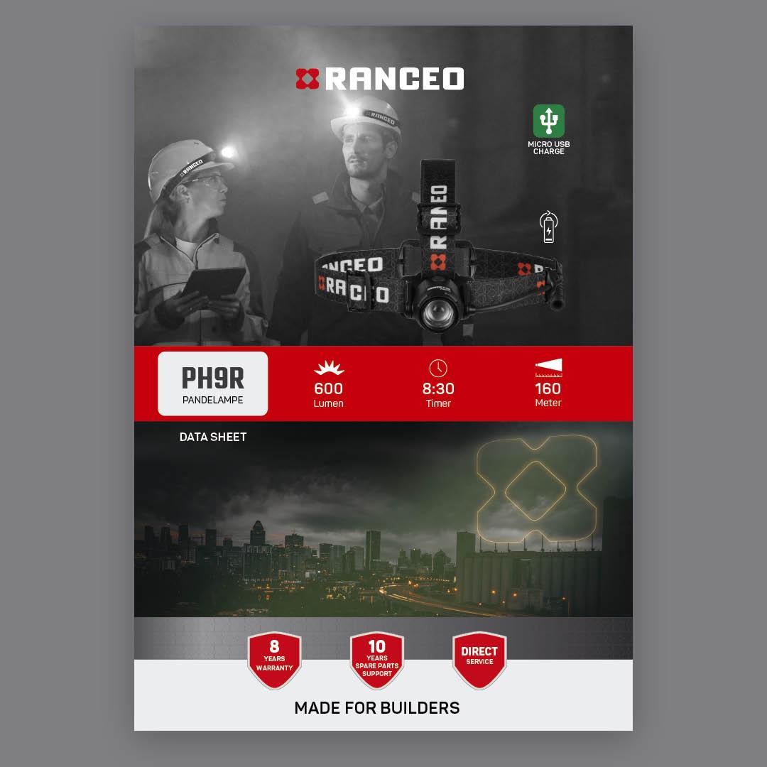 RANCEO PH9R - DATA SHEET - Teknisk information om pandelampen - Download hent dit data sheet her som .pdf fil
