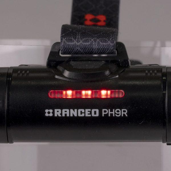 RANCEO PH9R pandelampe pandelygte til industri og håndværkere headlamp back red light batteri box battery box ean: 5710444925009 art nr. 9250
