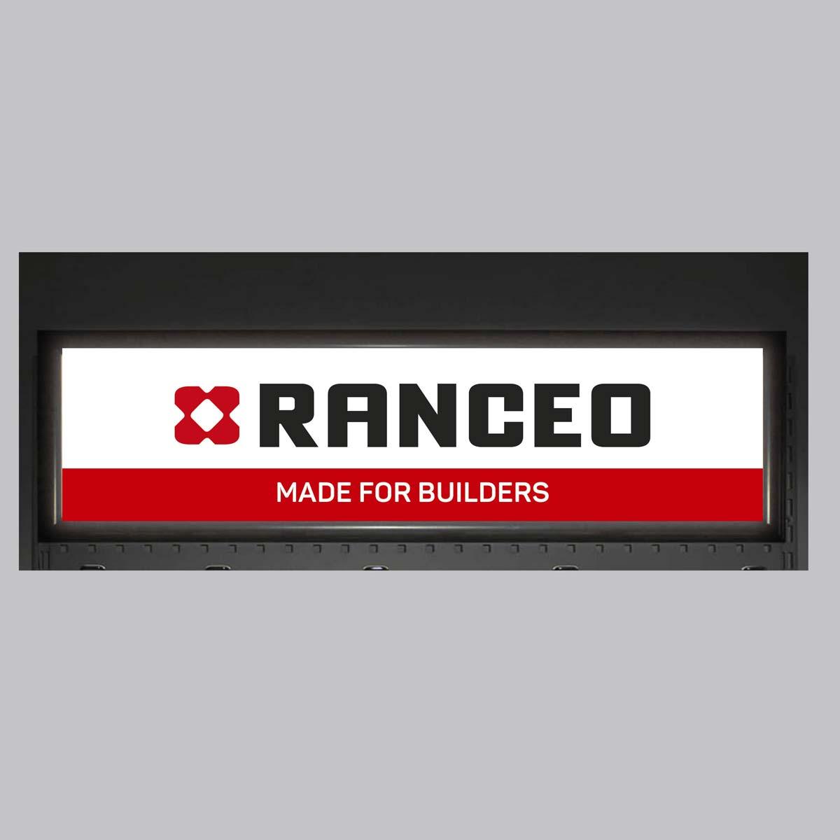 RANCEO - POS - B2B - Topskilt lysskilt til produktvæg