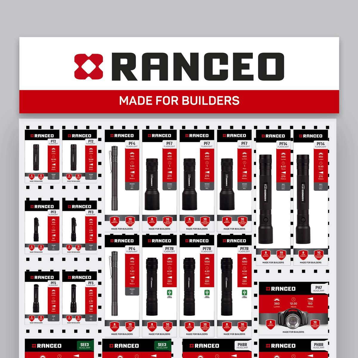 RANCEO - POS - B2B - PVC Skilt til produktvæg