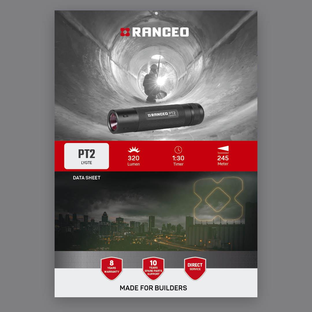 RANCEO PT2 - DATA SHEET - Teknisk information om lygten - Download hent dit data sheet her som .pdf fil