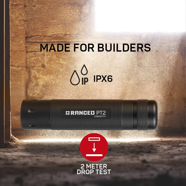 RANCEO PT2 lygte til industri og håndværkere flashlight ipx ean: 5710444900006 art nr. 9000