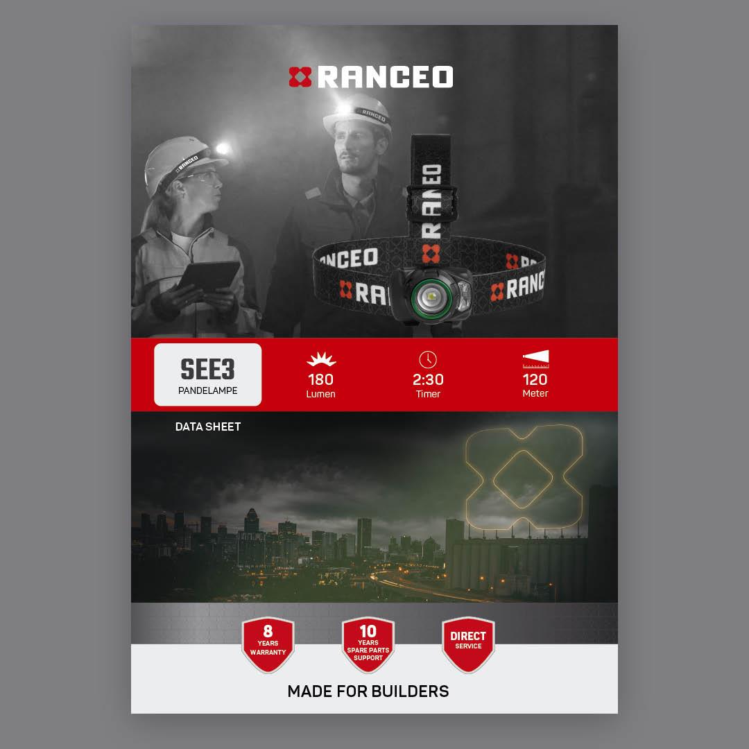RANCEO SEE3 - DATA SHEET - Teknisk information om pandelampen - Download hent dit data sheet her som .pdf fil