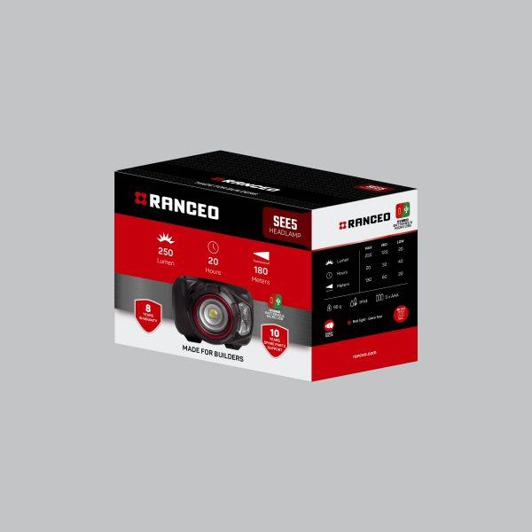 RANCEO SEE5 - Pandelampe / Pandelygte emballage blisterbox - Find den i butikken