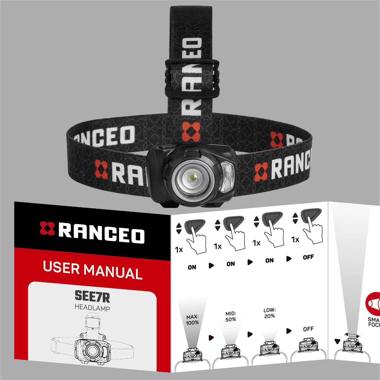 RANCEO SEE7R - How to - Manual - Hvordan betjener jeg pandelampen / pandelygten og hvordan virker den - Download hent din manual her som .pdf fil