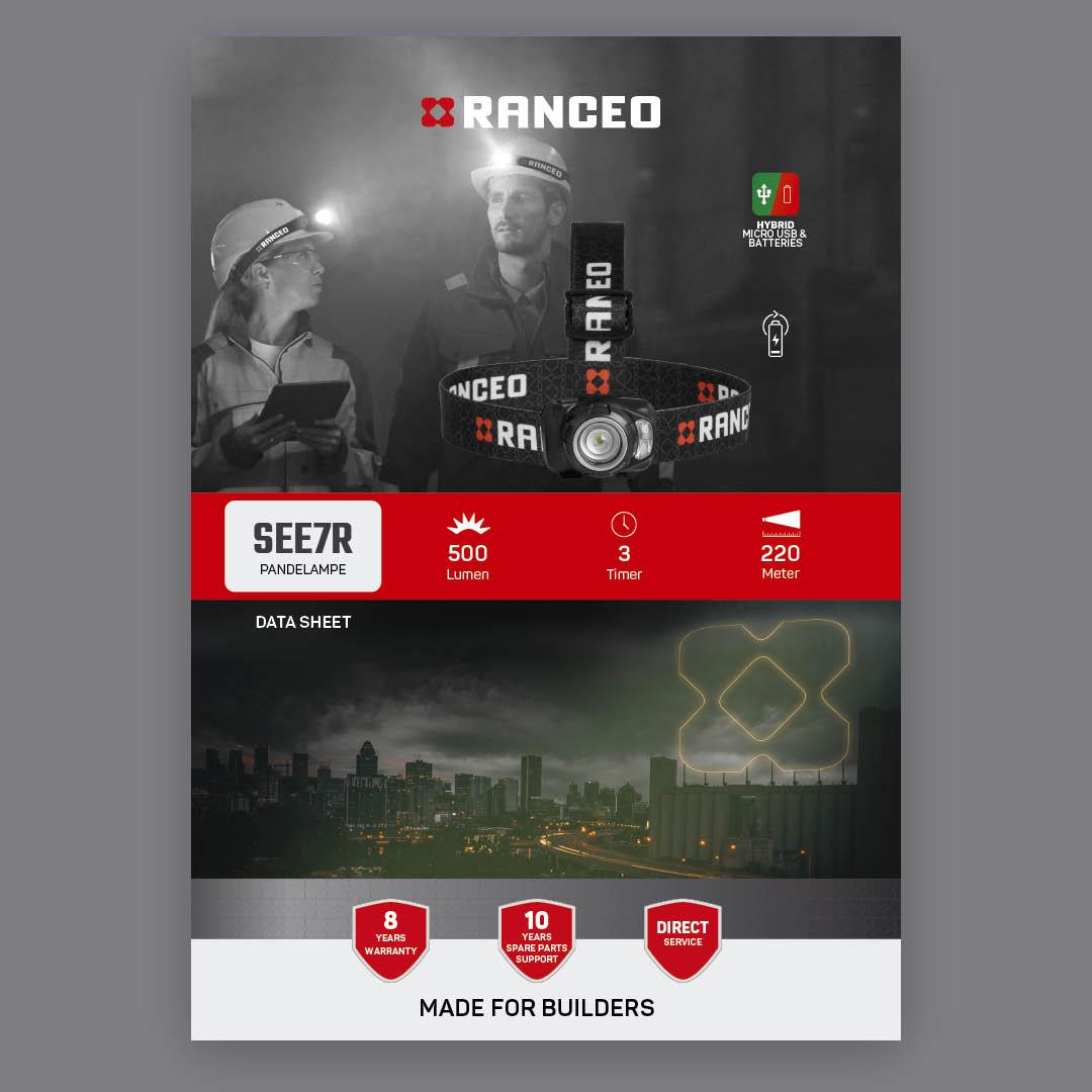 RANCEO SEE7R - DATA SHEET - Teknisk information om pandelampen - Download hent dit data sheet her som .pdf fil
