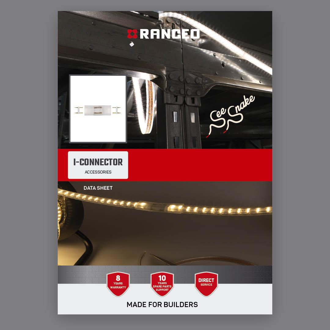 RANCEO I-CONNECTOR - DATA SHEET - Teknisk information om See Snake LED Strip Light Byggepladsbelysning tilbehør / Accessories - Download hent dit data sheet her som .pdf fil