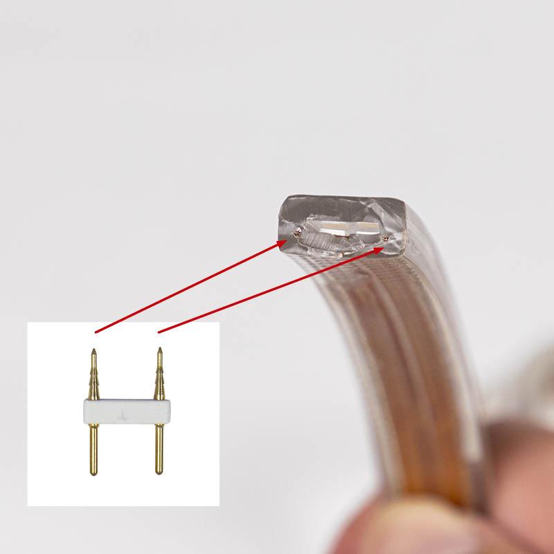 RANCEO - LED Strip Light - See Snake - HOW TO - Hvordan reparerer eller udvider man - Parallel kobbertråd i LED Strip Light