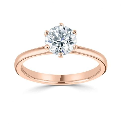 18ct Rose Gold Engagement Rings