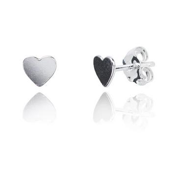 Aimee Silver Heart Earrings