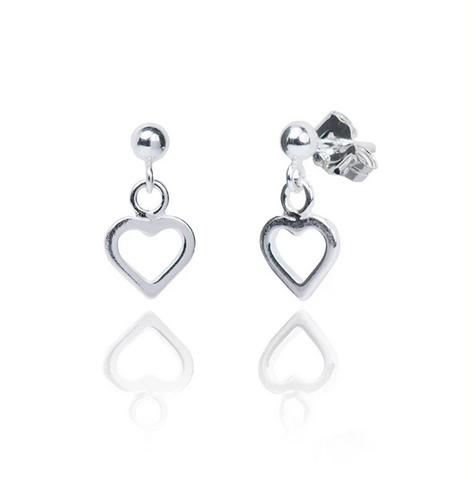 Annabelle Silver Heart EarringsAnnabelle Silver Heart Earrings