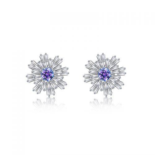 Carpe Diem Flower Burst Stud Earrings 3