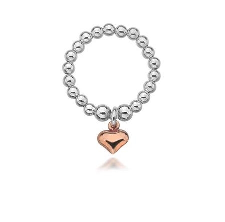 Gigi Rose Gold Heart Ring