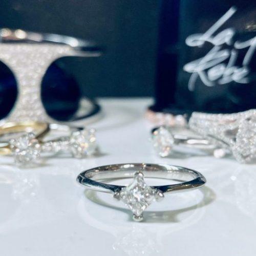 Corner Twist Princess Cut Engagement RingCorner Twist Princess Cut Engagement Ring