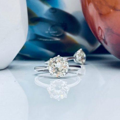 2ct Solitaire Platinum Engagement Ring Platinum