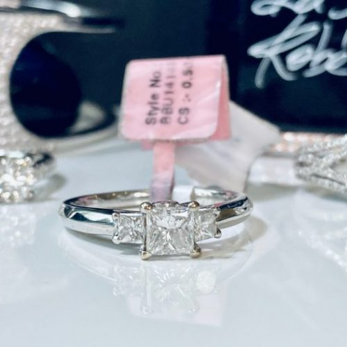Princess Cut Trilogy Engagement Ring 2