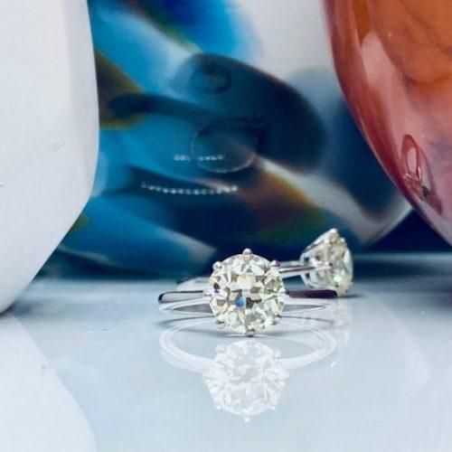Solitaire 2ct Platinum Engagement Ring Platinum