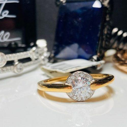 Viventy - Rose Gold Halo Ring
