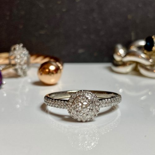 White Gold Illusion Set Engagement Ring